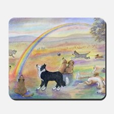 waiting at the rainbow bridge - dogs jpg Mousepad