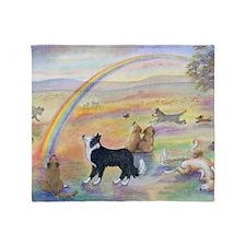 waiting at the rainbow bridge - dogs Throw Blanket