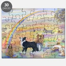 waiting at the rainbow bridge - dogs jpg Puzzle