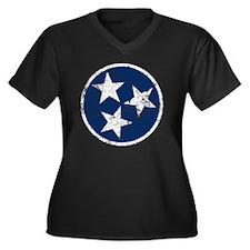 TN_shirt_bl Women's Plus Size Dark V-Neck T-Shirt
