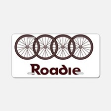 Roadie Cycling Shirt - Red Aluminum License Plate