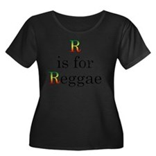 r4reggae Women's Plus Size Dark Scoop Neck T-Shirt