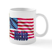 Nickie American Flag Gift Coffee Mug