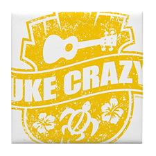 Uke Crazy Tile Coaster