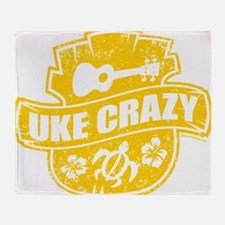 Uke Crazy Throw Blanket