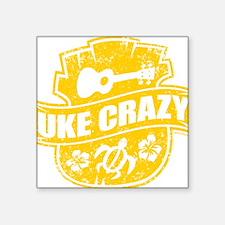 "Uke Crazy Square Sticker 3"" x 3"""