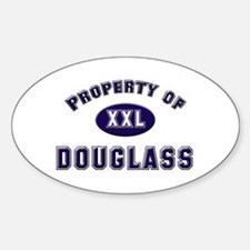 Property of douglass Oval Decal