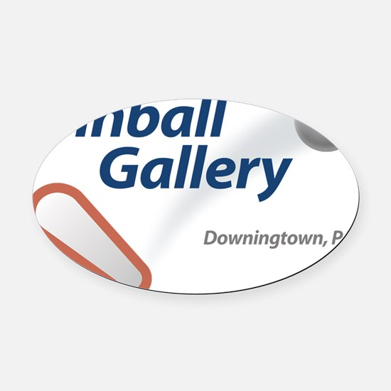 Pinball Gallery Logo Oval Car Magnet