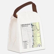 Oregon Map Canvas Lunch Bag