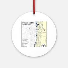 Oregon Map Round Ornament