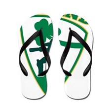 cricket batsman batting Ireland shield Flip Flops