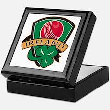 cricket ball shamrock Ireland shield Keepsake Box