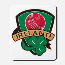 cricket ball shamrock Ireland shield Mousepad