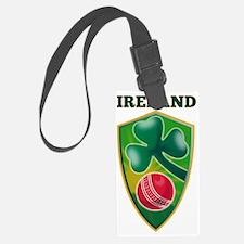 cricket ball shamrock Ireland sh Luggage Tag