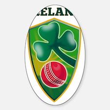 cricket ball shamrock Ireland shiel Decal