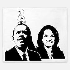 Bachmann_Obama_rabbit ears King Duvet