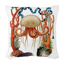 Jellyfish Sea Designer Beach Decor Throw Pillow