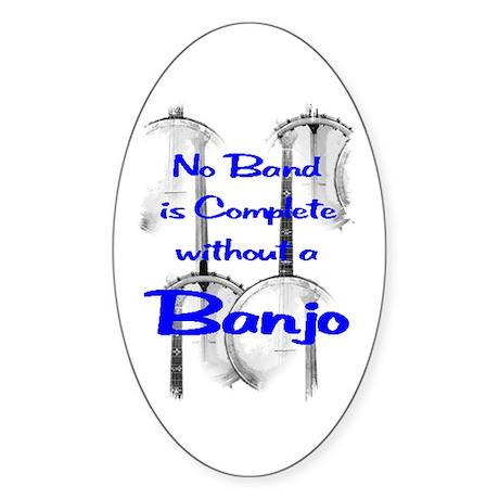 Banjo Sticker (Oval)