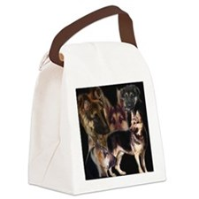 german shpherd collage Canvas Lunch Bag