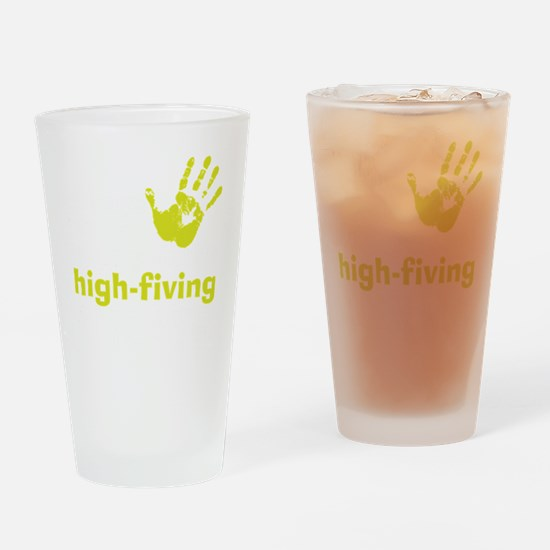highfivingDrk Drinking Glass