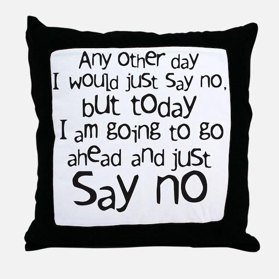 sayno Throw Pillow