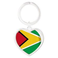 guyana Heart Keychain
