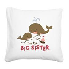BSWhale Square Canvas Pillow