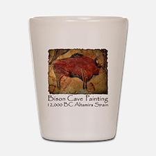cave bison spain Shot Glass