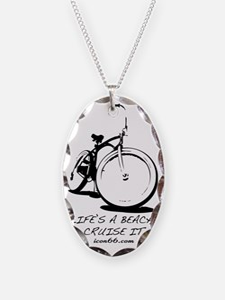 Bike - White Necklace