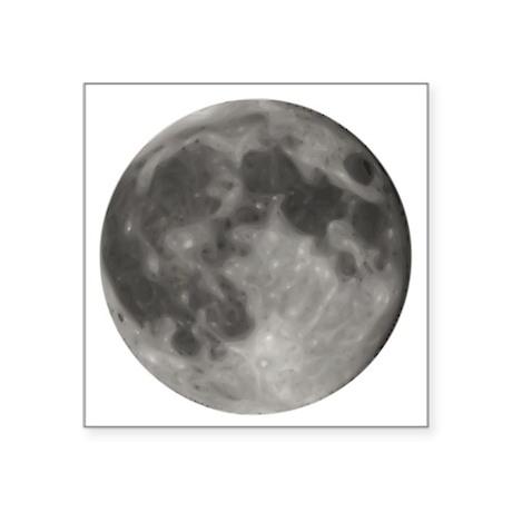 "Full Moon 1 Square Sticker 3"" x 3"""