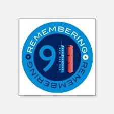 "remembering911 Square Sticker 3"" x 3"""