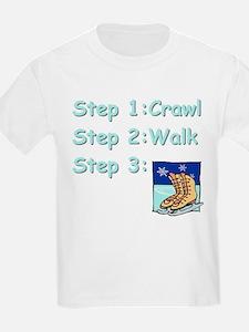 Figure Skating Steps Kids T-Shirt