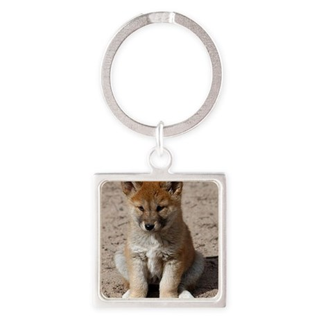 Australian Dingo Square Keychain
