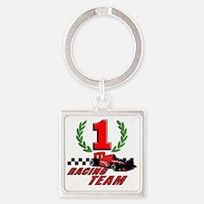 racing team Square Keychain