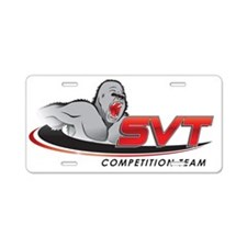 SVT Comp  Logo Aluminum License Plate