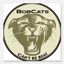 "bobcats Square Car Magnet 3"" x 3"""