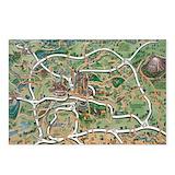 Georgia map Postcards