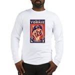 Obey the Yorkie! - Retro Long Sleeve T-Shirt