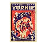 Obey the Yorkie! Retro Postcards (Pack of 8)