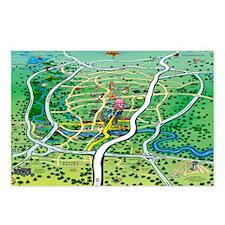 Austin Map Blanket Postcards (Package of 8)