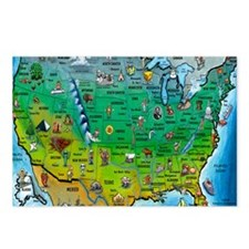 USA Map Blanket Postcards (Package of 8)
