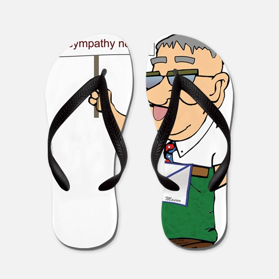 MANNY identity copy Flip Flops