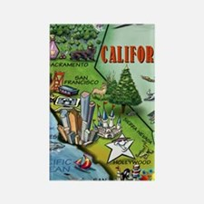 California Map Blanket Rectangle Magnet
