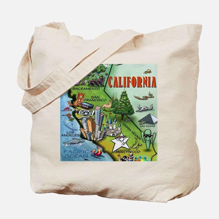 California Map Blanket Tote Bag