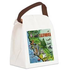 California Map Blanket Canvas Lunch Bag