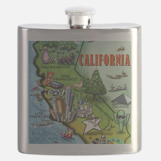 California Map Blanket Flask