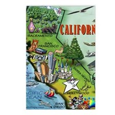 California Map Blanket Postcards (Package of 8)