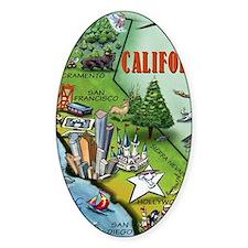 California Map Blanket Decal
