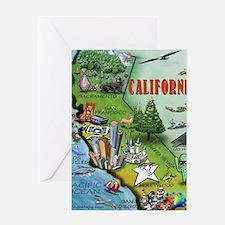 California Map Blanket Greeting Card