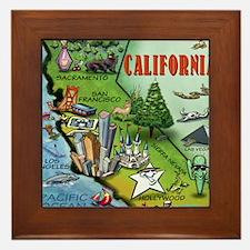 California Map Blanket Framed Tile